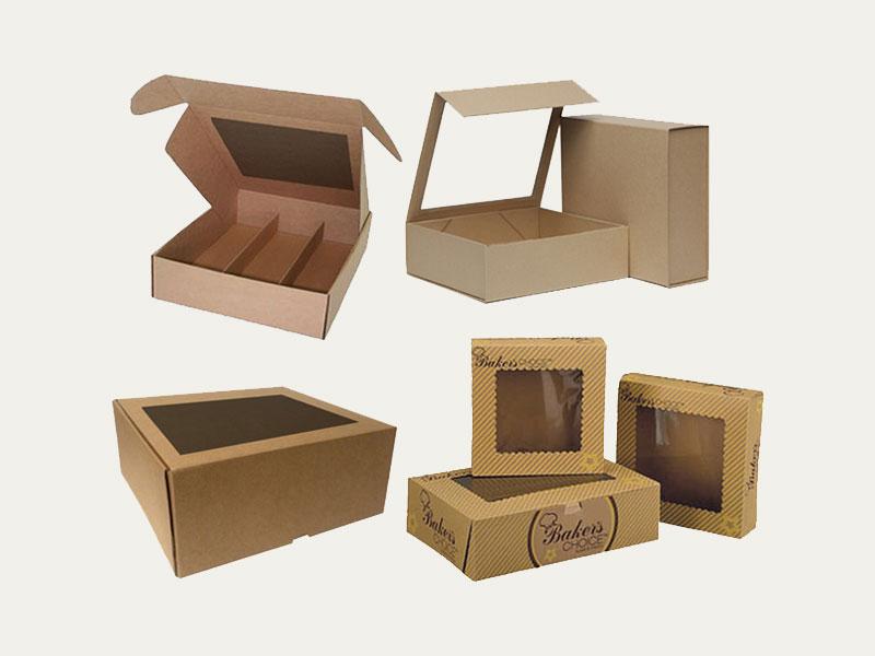 Cardboard box with window